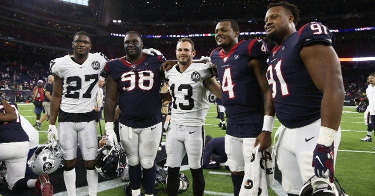 Clemson reunion after the Texans-Raiders game (Kevin Jairaj - USA Today Sports)