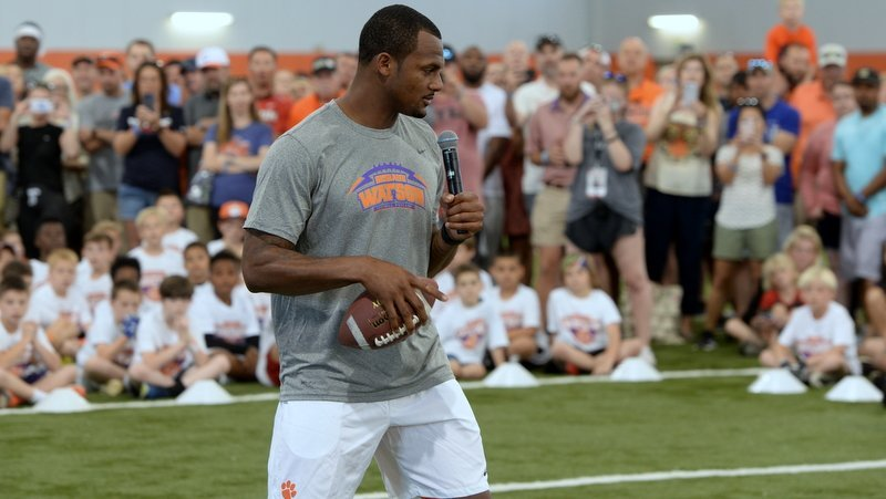 Watson was recently in Clemson for a camp. He is seen as an NFL superstar going into his third season.
