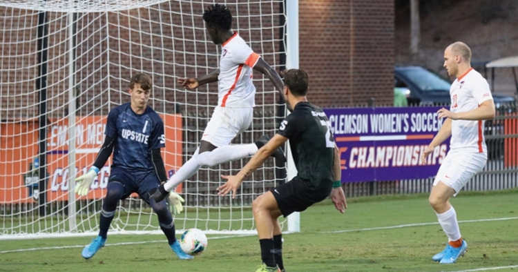 #9 Kimarni Smith scored 3 goals against USC Upstate (Photo credit: Allen Hodges)