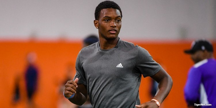 Clemson co-OC Jeff Scott worked out with Collins last week, which wasn't his first stop on Clemson's campus.