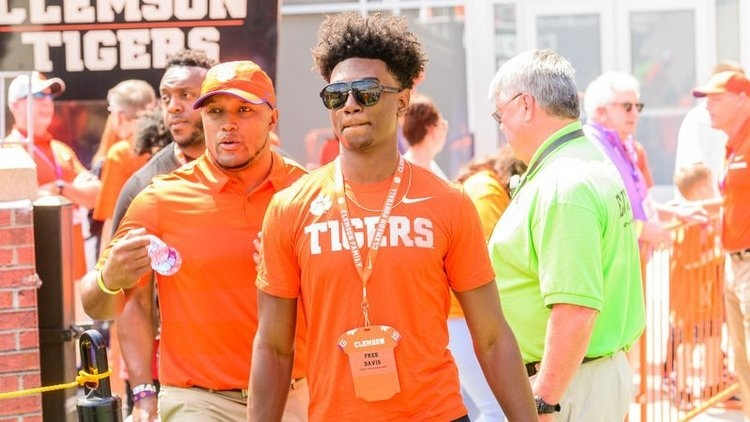 Davis is shown here at Clemson's spring game Saturday (Photo by David Grooms)