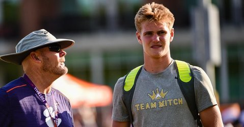 Briningstool has had plenty of attention at Dabo Swinney's camp this week, working with Tigers TE coach Danny Pearman.