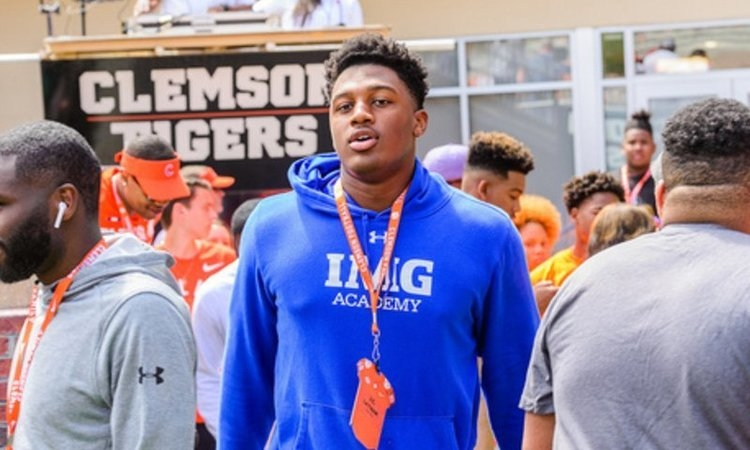 IMG Academy's J.C. Latham was in town for the spring game and is rated in the top-100 of the new 247Sports rankings.