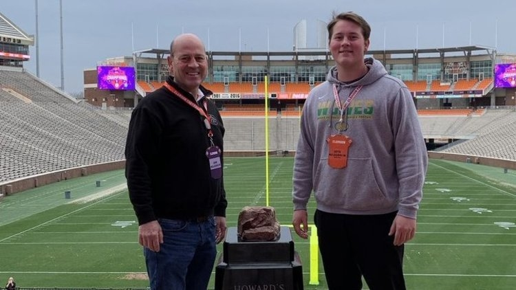 McLaughlin poses inside Death Valley on his visit