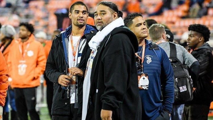 DJ (left), Big Dave Uiagalelei (center) and Terry Bullock (right) visit Clemson