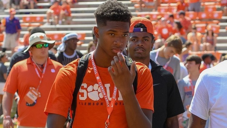 EJ Williams is shown here on a visit to Clemson last fall