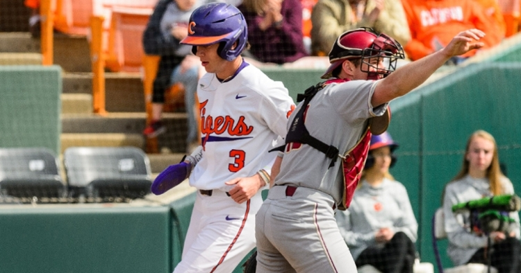 Clemson sweeps Boston College to open ACC play (Photo by David Grooms)