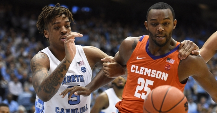 Aamir Simms helped lead Clemson to the win at UNC.  (Photos by Bob Donnan /USAT)