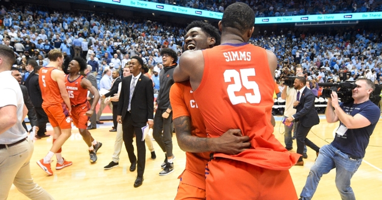 Aamir Simms celebrates after the win over UNC. (Photo: Jim Donnan / USATODAY)