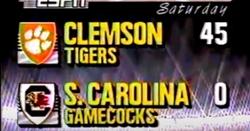 Throwback Thursday: 1989 Clemson vs. Scar 45-0 highlight video