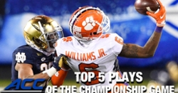 WATCH: Top 5 plays of Clemson's ACC title win