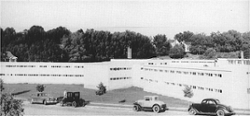 LOOK: Clemson Historic photo #104 'Temporary Barracks in 1940s'
