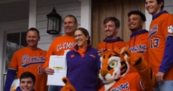 WATCH: Clemson Baseball delivers season tickets to fans at their door