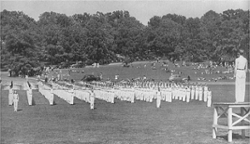 LOOK: Clemson Historic photo #97 'Calisthenics on Bowman Field'