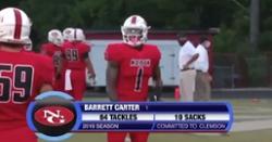 WATCH: Clemson LB commit Barrett Carter's  high-impact opener highlights