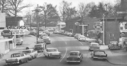 LOOK: Clemson Historic photo #130 'Downtown  Clemson in 1950s'