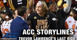 WATCH: Trevor Lawrence's last ride