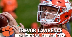 WATCH: Trevor Lawrence highlights vs. Georgia Tech
