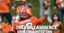 WATCH: Trevor Lawrence shines in limited time against The Citadel