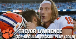 WATCH: Trevor Lawrence's Top 4 regular season plays of 2019
