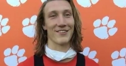 WATCH: Trevor Lawrence, James Skalski interviews after practice