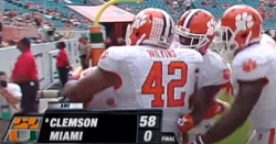 Throwback Thursday: Clemson blasts Miami 58-0 in 2015