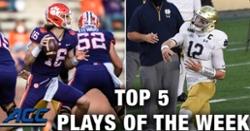 WATCH: Clemson's flea-flicker ranked as Top 5 ACC Play of the Week