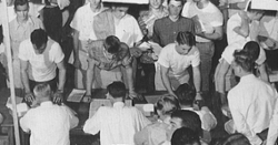 LOOK: Clemson Historic photo #96 'Clemson Registration Day in 1950s'