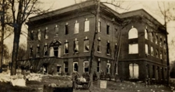 LOOK: Clemson Historic photo #63 'Sikes Hall fire in 1925'
