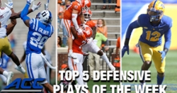 WATCH: Clemson has No. 1 ACC Defensive Play of the Week