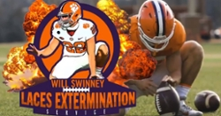 Clemson releases funny video 'Will Swinney's Laces Extermination Service'