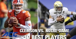 WATCH: 10 best players involving Clemson-Notre Dame matchup