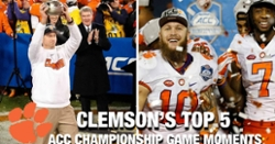 WATCH: Clemson's Top 5 ACC Championship moments