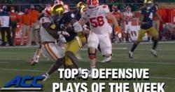 WATCH: Venables' clutch play ranked as Top 5 ACC Defensive Plays of Week