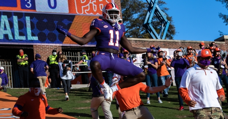 Clemson didn't quite leap like this but they did move up one spot in two ESPN rankings (ACC photo).
