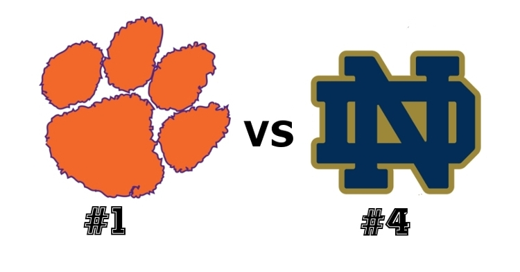 Clemson and Notre Dame square off at 7:30 pm Saturday.