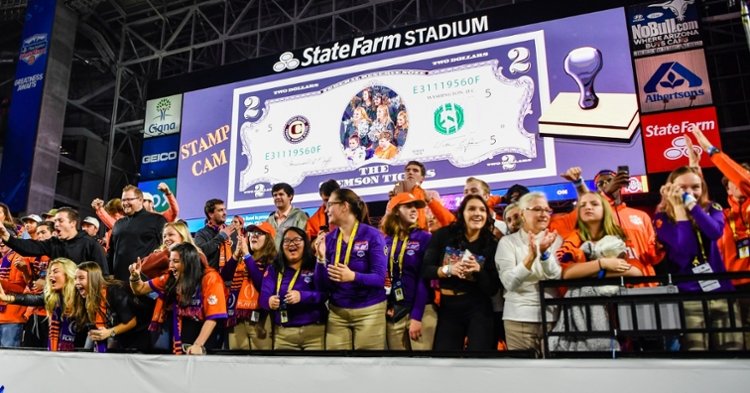 Just like in the Fiesta Bowl, Clemson fans will be outnumbered in New Orleans.