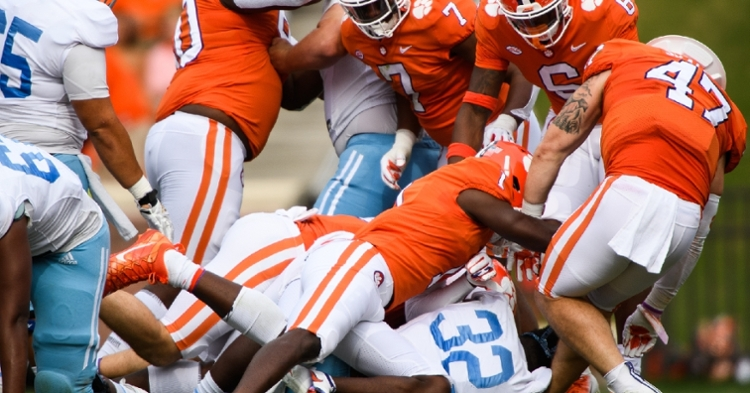 Clemson's defense controlled the day against The Citadel (ACC pic).