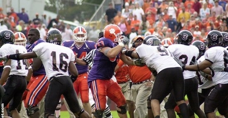 It was a free-for-all all over Frank Howard field that Saturday.