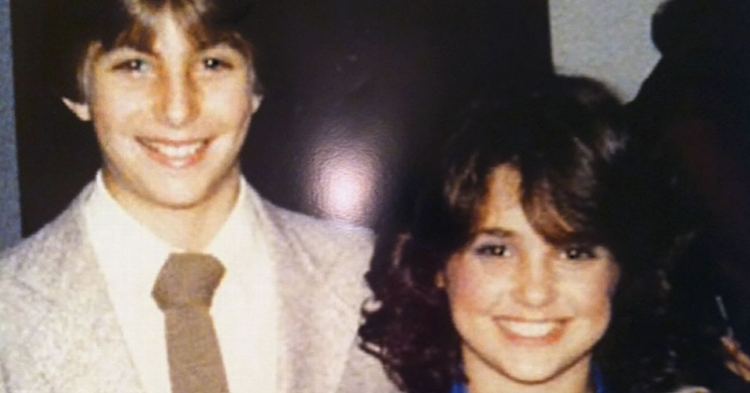 Dabo and Kathleen pose at a dance in 1982 - she was in 6th grade and he was in the 7th.