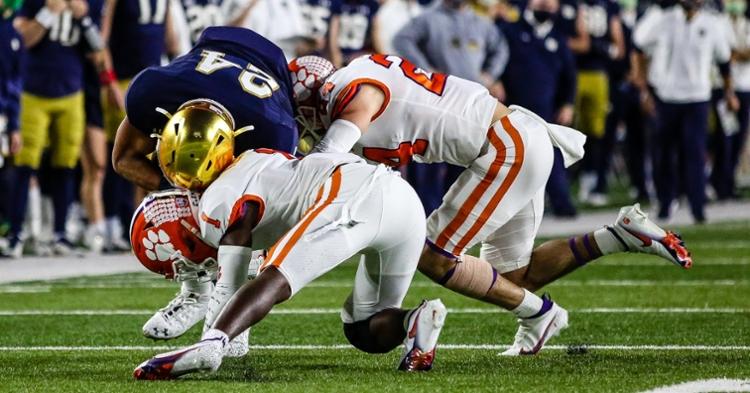 Clemson's defense was a mixed bag against Notre Dame. (Photo courtesy ACC)