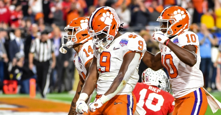 Clemson will return 2-time ACC Player of the Year Travis Etienne for the 2020 season.