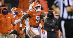 Swinney explains why Travis Etienne went to locker room