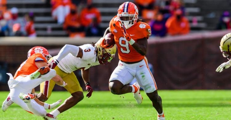 Etienne has been a PFF favorite running back prospect two years running. (ACC photo)