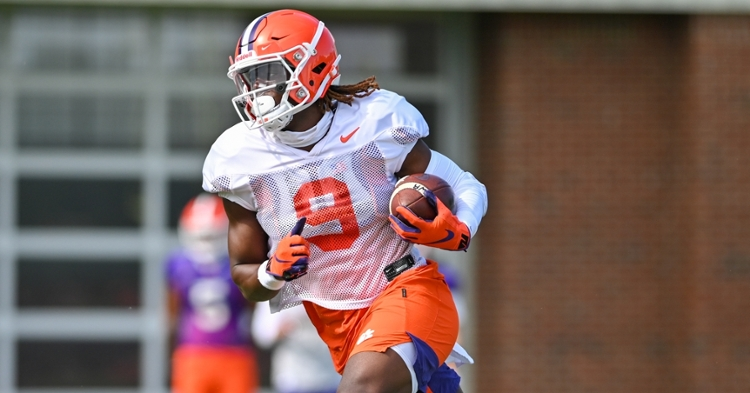 Etienne is chasing numbers that put him among the all-time greats. (Photo per Clemson athletics)