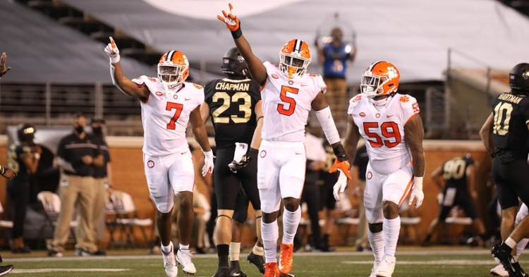 KJ Henry (5) has worked to bring younger players along as a leader. (Photo per ACC).