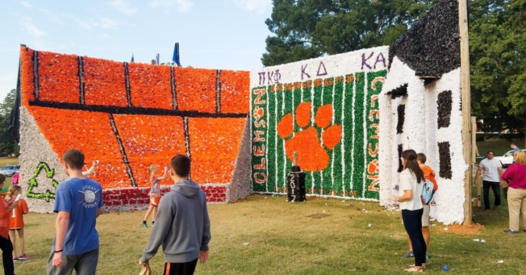 Student-made floats have been a staple of Homecoming weekend.