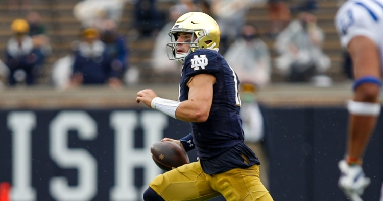 Ian Book and Notre Dame passing game have been hit-or-miss this year. (ACC photo)