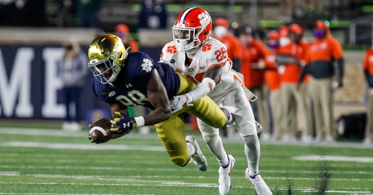 Clemson lost 47-40 at Notre Dame in early November. (Photo courtesy ACC)