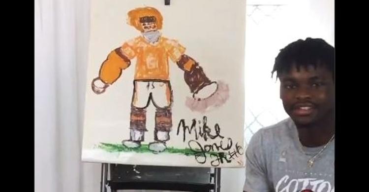 Mike Jones showing off Mike Jones